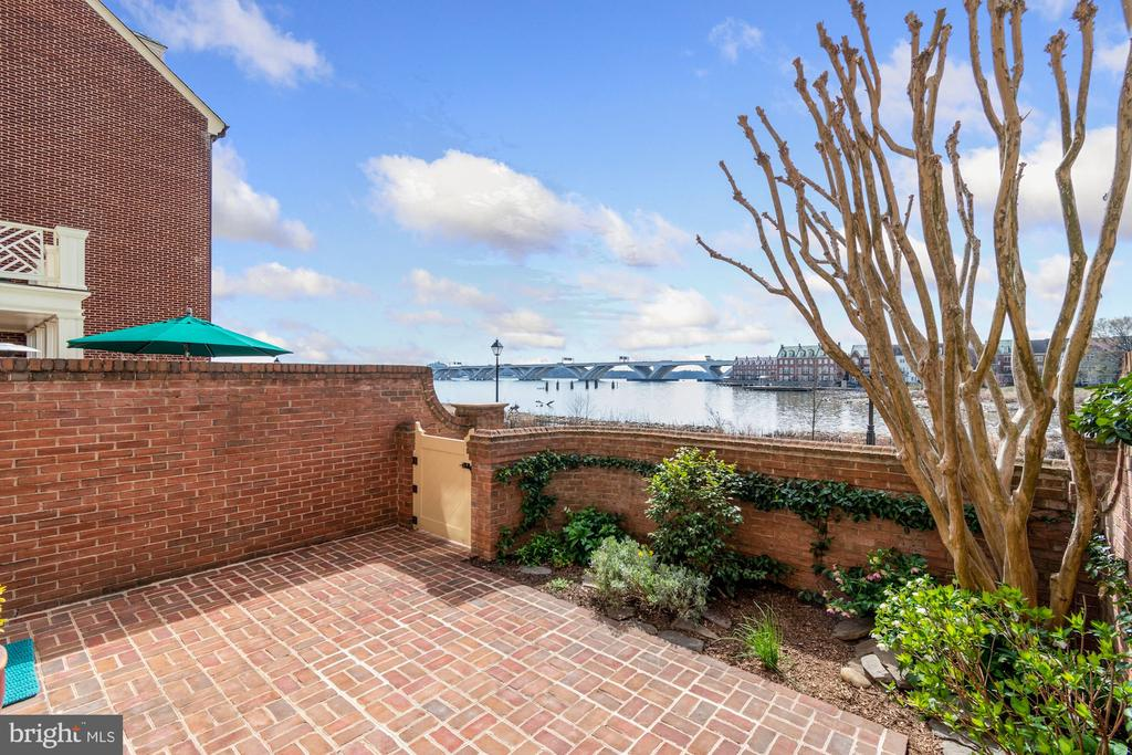 Endless water views to the South from this patio - 19 WILKES ST, ALEXANDRIA