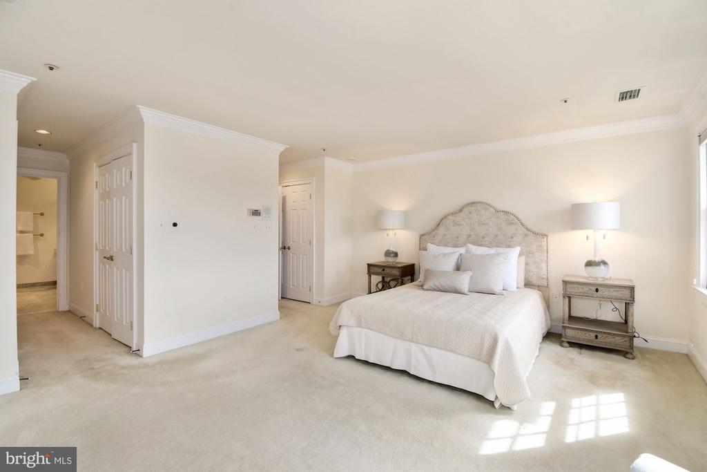Elegant crown molding surrounds the master bedroom - 19 WILKES ST, ALEXANDRIA