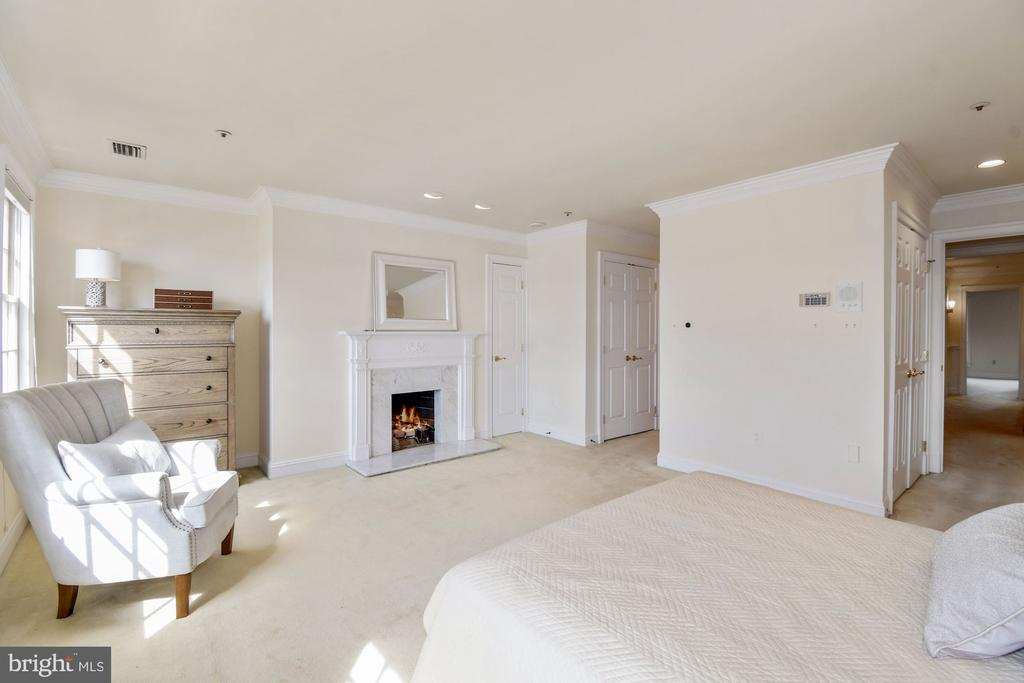 The master bedroom features amazing closets - 19 WILKES ST, ALEXANDRIA