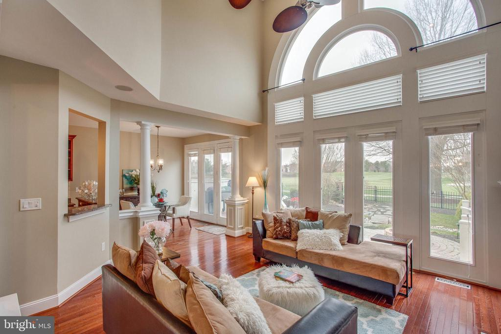 Gorgeous view from family room - 18339 BUCCANEER TER, LEESBURG