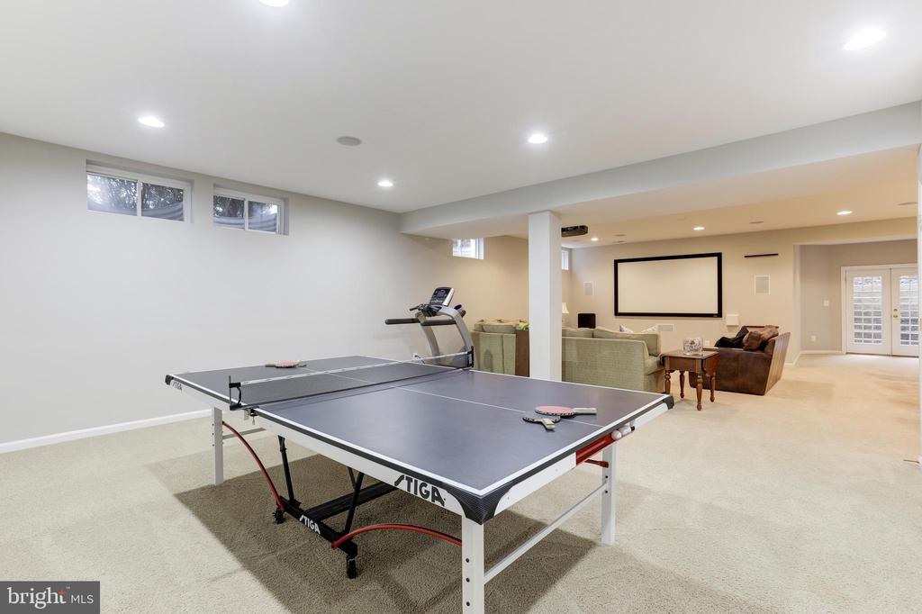 Expansive Lower Level Family Room - 43475 SQUIRREL RIDGE PL, LEESBURG