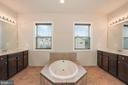 Sumptuous Bath with Double Vanities - 20689 HOLYOKE DR, ASHBURN