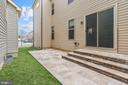 Private Travertine  Patio Accessed from Kitchen - 20689 HOLYOKE DR, ASHBURN