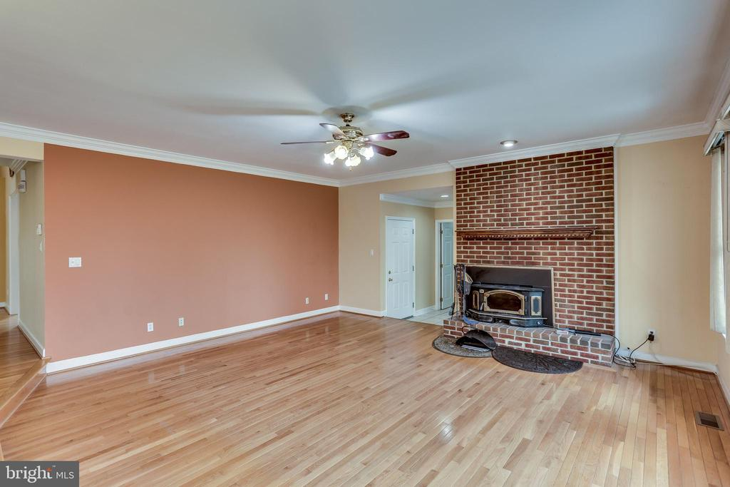 FROM DOUBLE GLASS DOORS AT DECK VIEW FAMILY ROOM - 7365 BEECHWOOD DR, SPRINGFIELD