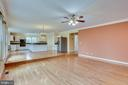 LONG RANGE VIEW FAMILY ROOM TO KITCHEN - 7365 BEECHWOOD DR, SPRINGFIELD