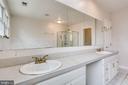 MASTER  BATHROOM VANITIES WITH BRASS FAUCETS - 7365 BEECHWOOD DR, SPRINGFIELD
