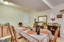 LOWER LEVEL DINING ROOM AREA - 7365 BEECHWOOD DR, SPRINGFIELD