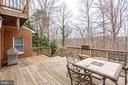 VIEW OF PRIVACY FROM REAR DECK - 7365 BEECHWOOD DR, SPRINGFIELD
