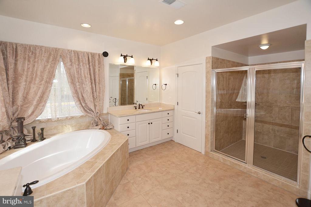Master Bath with Wall Listello Tile in Shower - 2976 TROUSSEAU LN, OAKTON