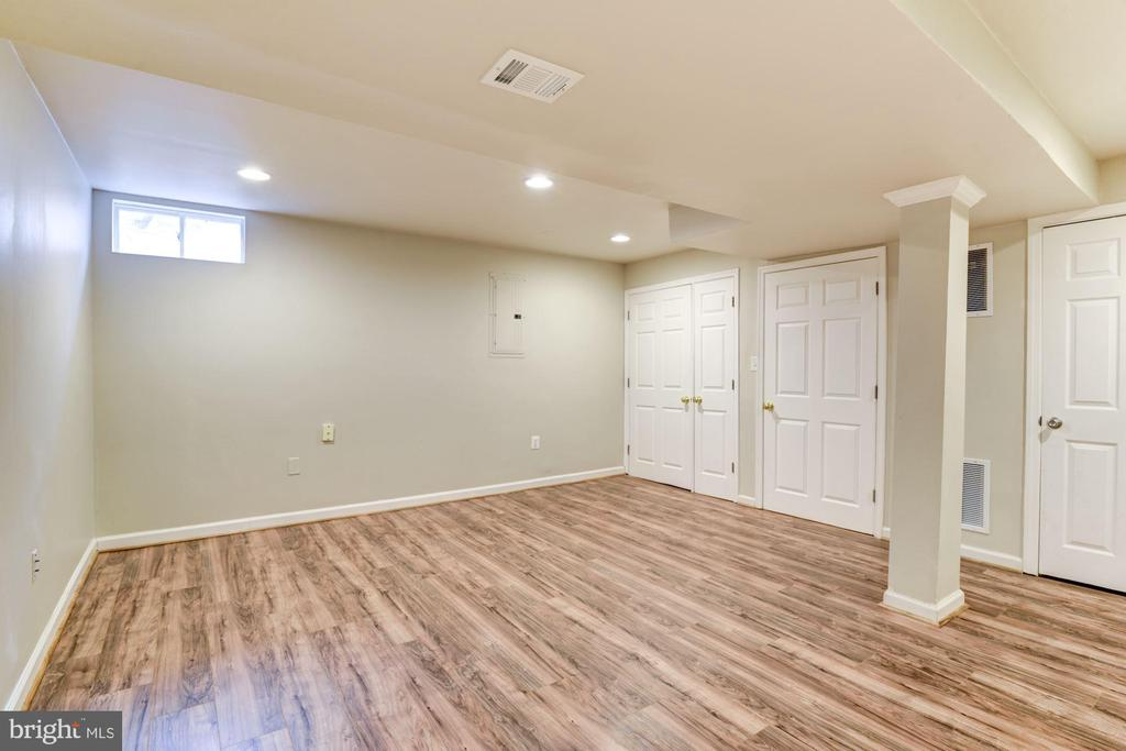 Rec room w/new floors, fresh paint, plenty storage - 43329 MARY RITA TER, ASHBURN