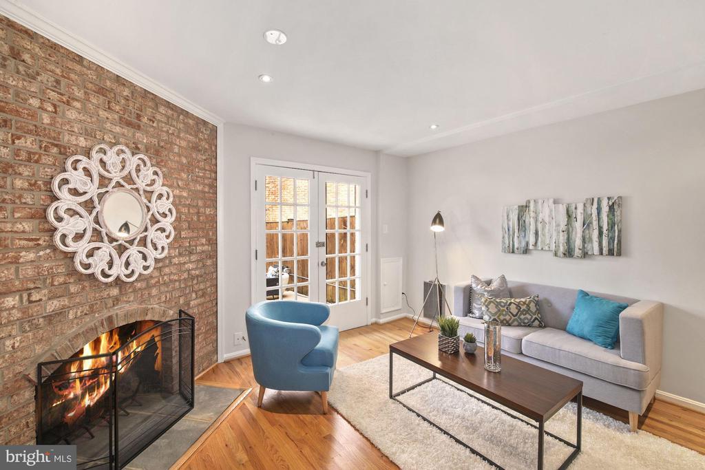 Main level Family Room with French doors to patio! - 3747 KANAWHA ST NW, WASHINGTON