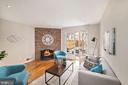 Main level Family Room w/ wood burning fireplace! - 3747 KANAWHA ST NW, WASHINGTON
