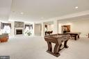 Entertaining Recreation Room - 11408 WOLFS LNDG, FAIRFAX STATION