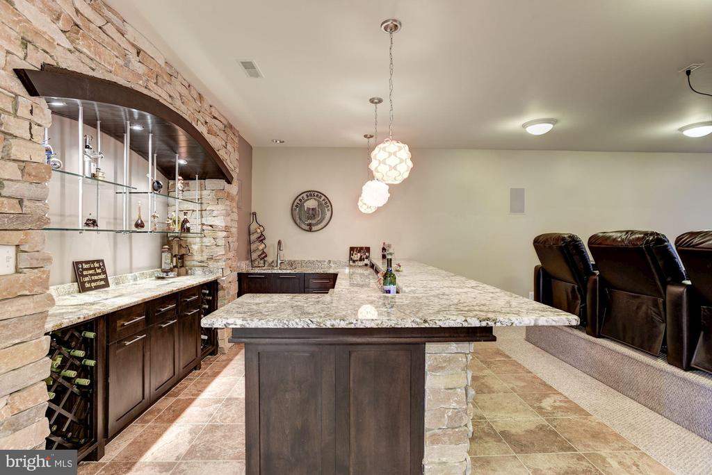 Custom Built Wet Bar   and  the  Media Room - 11408 WOLFS LNDG, FAIRFAX STATION