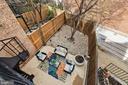 View of patio from balcony off Living Room! - 3747 KANAWHA ST NW, WASHINGTON