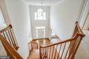 Two story foyer from the upper level - 7911 MADISON PLANTATION WAY, FREDERICKSBURG