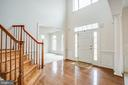 Elegant entrance foyer with lots of natural light - 7911 MADISON PLANTATION WAY, FREDERICKSBURG