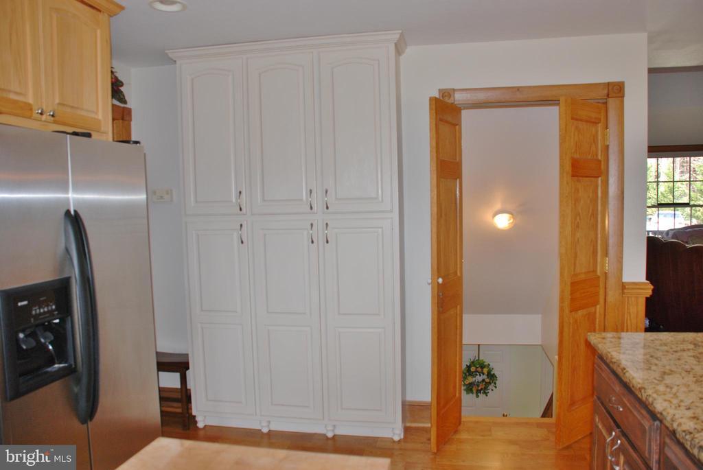 Pantry storage and doorway to lower level suite - 1318 LOCUST GROVE CHURCH RD, ORANGE