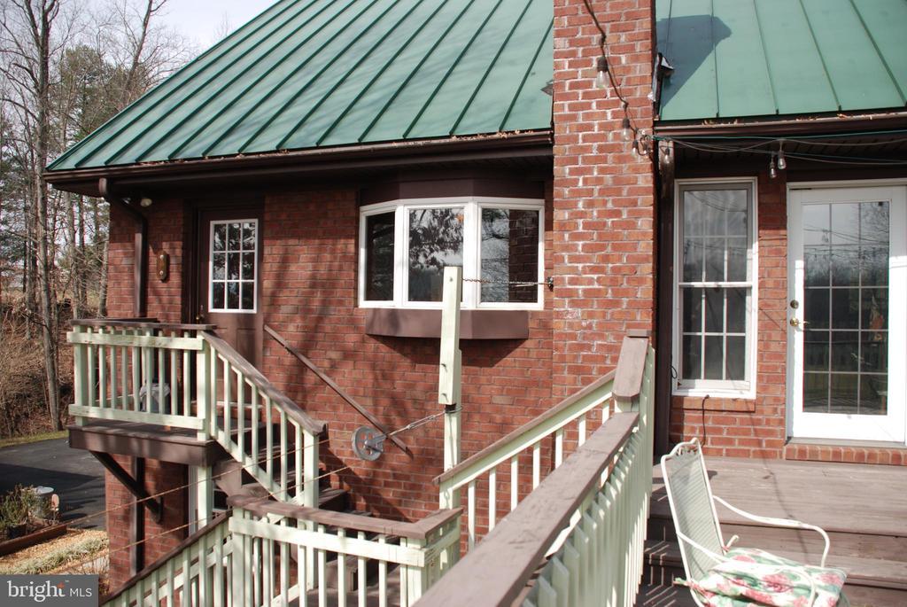 Rear of house from deck view - 1318 LOCUST GROVE CHURCH RD, ORANGE