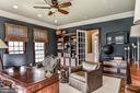 The Study also features custom built-ins - 2555 VALE RIDGE CT, OAKTON