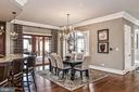 Large open Breakfast Room opens to rear porch - 2555 VALE RIDGE CT, OAKTON