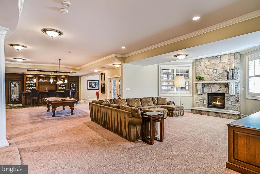 Enormous Recreation Room! - 2555 VALE RIDGE CT, OAKTON
