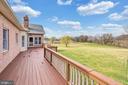 Rear Deck From Sunroom & Kitchen - 39032 FRY FARM RD, LOVETTSVILLE
