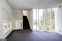 Stairs from master suite to window seat & roof - 5500 BROAD BRANCH RD NW, WASHINGTON