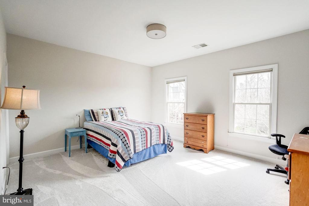 Bedroom #3 with Fresh Paint and New Carpet - 18777 UPPER MEADOW DR, LEESBURG