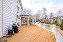 Composite Deck open to Large Backyard - 18777 UPPER MEADOW DR, LEESBURG
