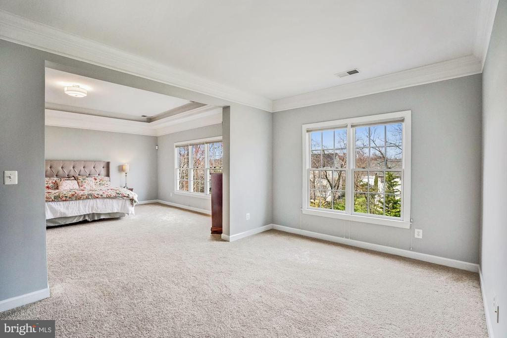 Master Bedroom with Large Sitting Room - 18777 UPPER MEADOW DR, LEESBURG