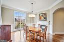 Dining Room with Fireplace - 18777 UPPER MEADOW DR, LEESBURG