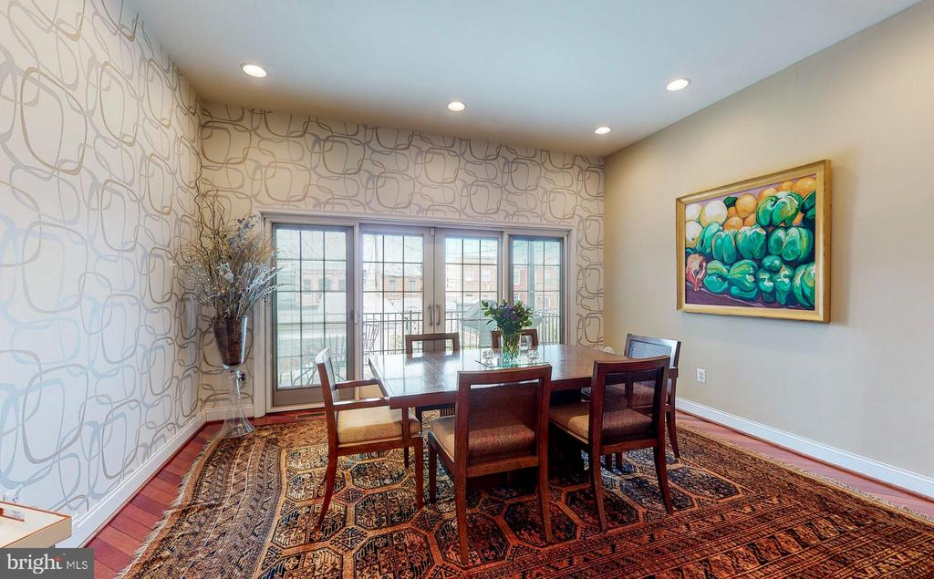 Extra large DR- high ceilings, sliders to balcony - 124 S PATTERSON PARK AVE, BALTIMORE