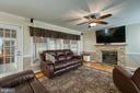 Family room with gas fireplace - 102 NORTHAMPTON BLVD, STAFFORD