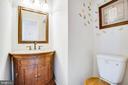 Main floor half bath - 11617 DUCHESS DR, FREDERICKSBURG