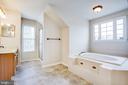 Master Bath with garden tub and separate shower - 11617 DUCHESS DR, FREDERICKSBURG
