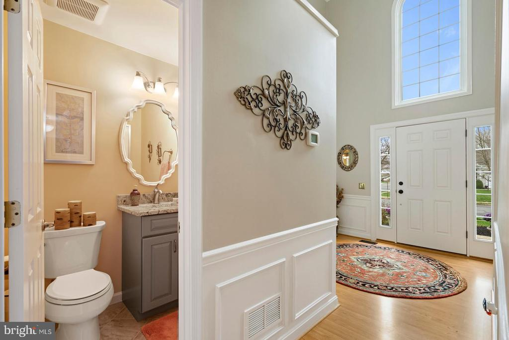 Main Level Renovated Half Bathroom - 201 STONELEDGE PL NE, LEESBURG
