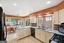 Renovated Kitchen  with Breakfast Area - 201 STONELEDGE PL NE, LEESBURG