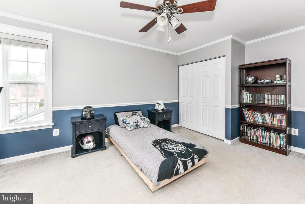 Bedroom #2 - molding and wood trim continues - 25974 KIMBERLY ROSE DR, CHANTILLY