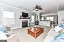 Large, cozy living room with gas fireplace! - 25974 KIMBERLY ROSE DR, CHANTILLY