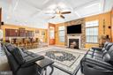 The Family Room features a coffered ceiling - 31 LIBERTY KNOLLS DR, STAFFORD