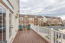 Quiet deck off of living room - 44715 PLYMPTON SQ, ASHBURN