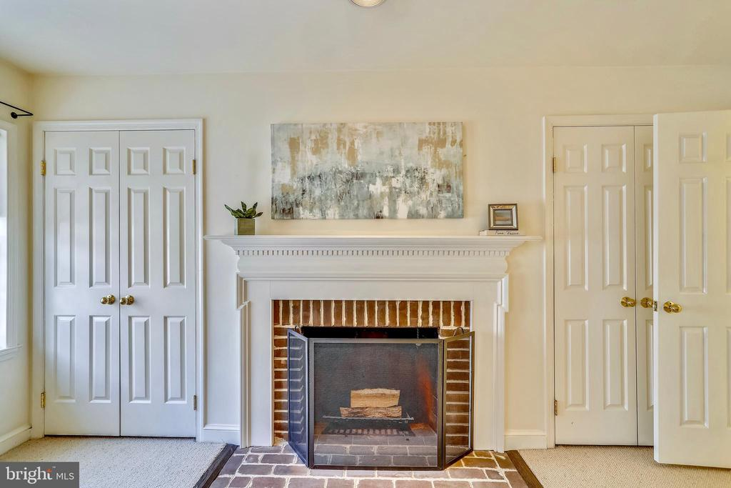 Wood burning fireplace in the master bedroom - 1112 N PITT ST, ALEXANDRIA