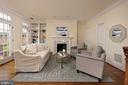 This room features a fireplace and recessed lights - 19 WILKES ST, ALEXANDRIA