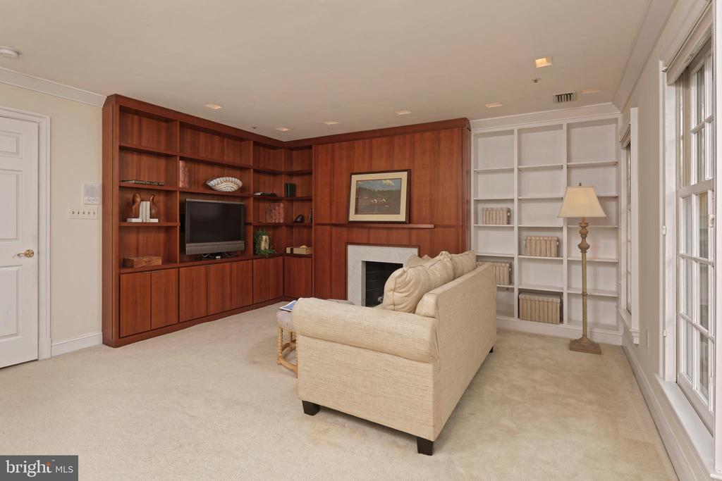Custom cabinetry in the library/bedroom - 19 WILKES ST, ALEXANDRIA