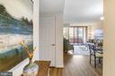 View into Condo from Entry Foyer - 4808 MOORLAND LN #503, BETHESDA