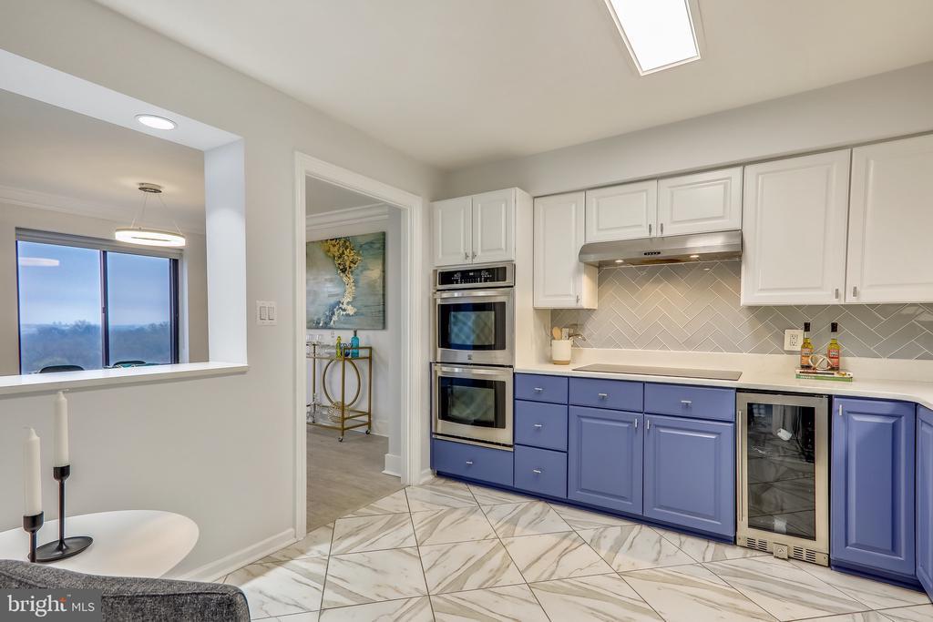 Refreshed Kitchen Cabinets & Wine Fridge - 2111 WISCONSIN AVE NW #PH7, WASHINGTON