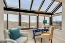Den Area in Master Bedroom with Monument Views - 2111 WISCONSIN AVE NW #PH7, WASHINGTON