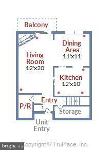 Main Level Floor Plan - 2111 WISCONSIN AVE NW #PH7, WASHINGTON