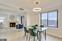 Spacious Dining Area opens to Living Room - 2111 WISCONSIN AVE NW #PH7, WASHINGTON